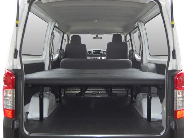E26 NV350 キャラバン CARAVAN | ベットキット【エアーズロックジャパン】NV350 キャラバン E26 バンDX 標準ボディ 車中泊 ベッドキット 5段階調整付 アイボリー リアヒーター無スライドドア2枚