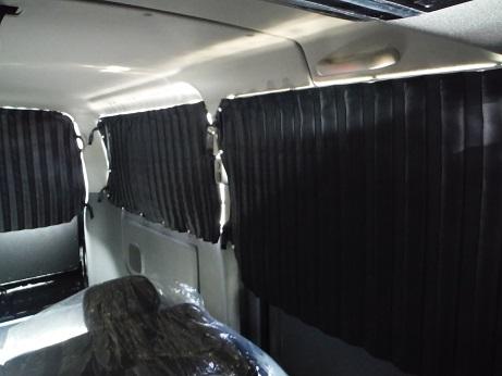 E26 NV350 CARAVAN | カーテン | ARJ E26 NV350 キャラバン CARAVAN | カーテン【エアーズロックジャパン】NV350キャラバン E26 プレミアムGX リア5面カーテン (遮光) ブラック