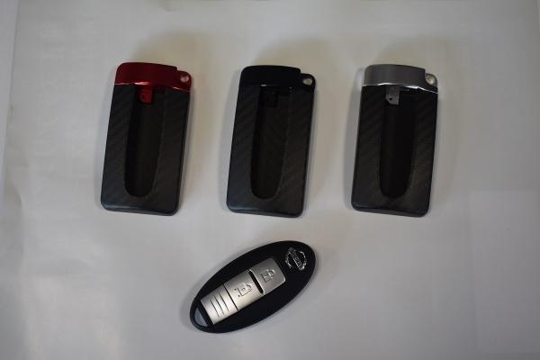 GT-R R35 | グッズ キーホルダー【エアーズロックジャパン】ニッサン キーケース GTR リアルカーボン(ブラック艶なし) ブラックカーボン/ブラック