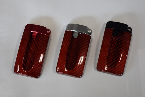 GT-R R35 | グッズ キーホルダー【エアーズロックジャパン】ニッサン キーケース GTR リアルカーボン(レッド) レッドカーボン/レッド