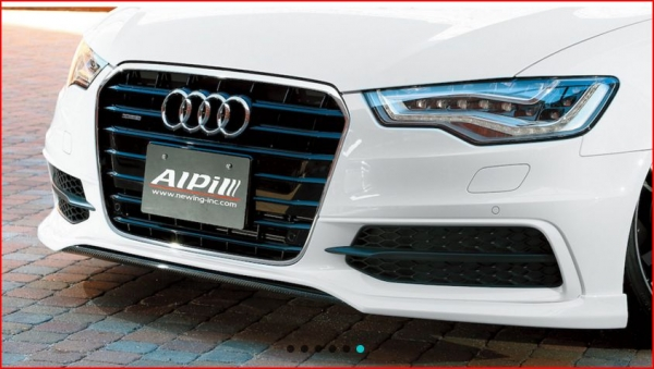 Audi A6 C7 | フロントハーフ【アルピール】Audi S6/A6 S-Line C7 Front Lip Spoiler FRP + Carbon