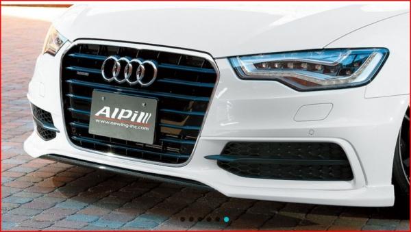 Audi A6 C7 | フロントハーフ【アルピール】Audi S6/A6 S-Line C7 Front Lip Spoiler Carbon