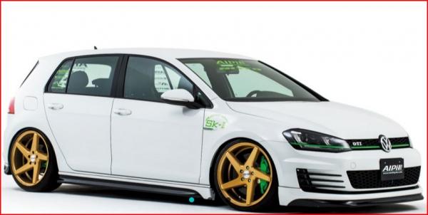 フォルクスワーゲン ゴルフ 7 VW GOLF VII | サイドステップ【アルピール】VW GOLF VII GTI Side Step Carbon