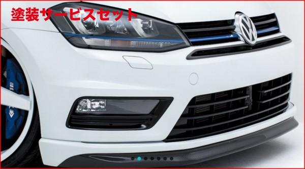★色番号塗装発送フォルクスワーゲン ゴルフ 7 VW GOLF VII | フロントリップ【アルピール】VW GOLF VII TSI Front Lip Spoiler FRP