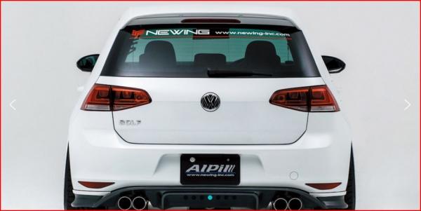 フォルクスワーゲン ゴルフ 7 VW GOLF VII | リアアンダー / ディフューザー【アルピール】VW GOLF VII TSI Rear Diffuser Carbon