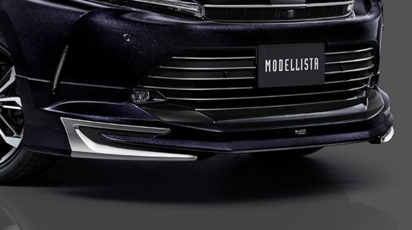 65W 60W ハリアー HARRIER | エアロ 3点キットC / ( FRハーフタイプ )【トヨタモデリスタ】ハリアー 60系 後期 MODELLISTA Ver.1 エアロキット(LEDなし) ターボ車用 塗装済 ブラックマイカ (特別仕様車 Style BLUEISH専用色)