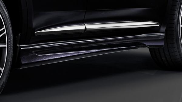 65W 60W ハリアー HARRIER | サイドステップ【トヨタモデリスタ】ハリアー 60系 後期 MODELLISTA Ver.1 サイドスカート 塗装済 ブラック