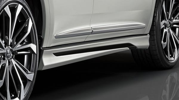 65W 60W ハリアー HARRIER | サイドステップ【トヨタモデリスタ】ハリアー 60系 後期 Ver.2 MODELLISTA サイドスカート 塗装済 ブラック