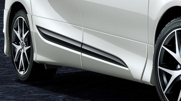 シエンタ 17#系   サイドステップ【トヨタモデリスタ】シエンタ 170系 後期 サイドスカート 塗装済 シルバーメタリック (1F7)