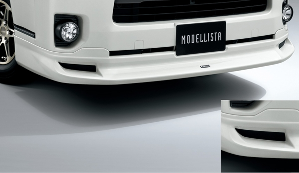 200 ハイエース   エアロセット (その他)【トヨタモデリスタ】ハイエース 200系 4型 スーパーGL/DX GLパッケージ 標準ボディ MODELLISTA Version 1 クールフェイスキット シルバーマイカメタリック