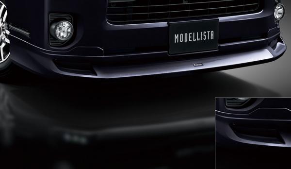 200 ハイエース   エアロセット (その他)【トヨタモデリスタ】ハイエース 200系 4型 スーパーGL DARK PRIME2 標準ボディ MODELLISTA Version 1 クールフェイスキット スパークリングブラックパールクリスタルシャイン