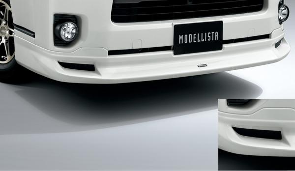 200 ハイエース 標準ボディ   エアロセット (その他)【トヨタモデリスタ】ハイエース 200系 4型 スーパーGL/DX GLパッケージ 標準ボディ MODELLISTA Version 1 クールフェイスキット ブラックマイカ