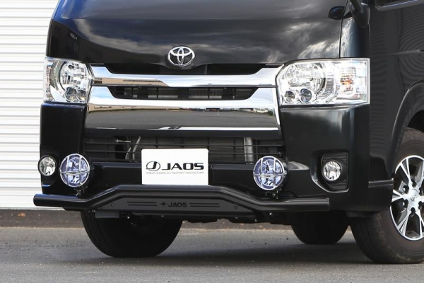 【ジャオス】JAOS フロントスキッドバー ブラック/ブラック 標準3~4型 ハイエース 200系 FRONT SKID BAR (BLACK/BLACK) HIACE 10+ (NORMAL-BODY) 【年式: 10.07-】 【適応: 標準ボディ(3型-4型) 】