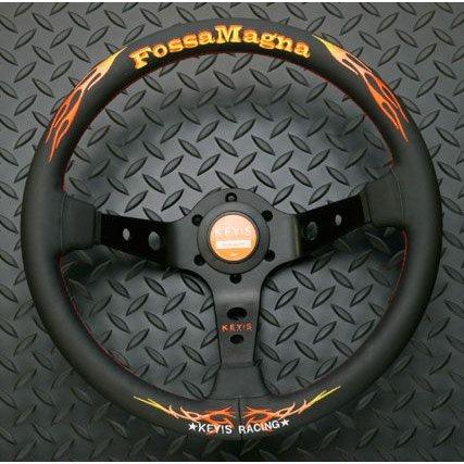 ステアリング | ステアリング【エーティーシー】FossaMagna DEEP MODEL 350 DEEP 黒革