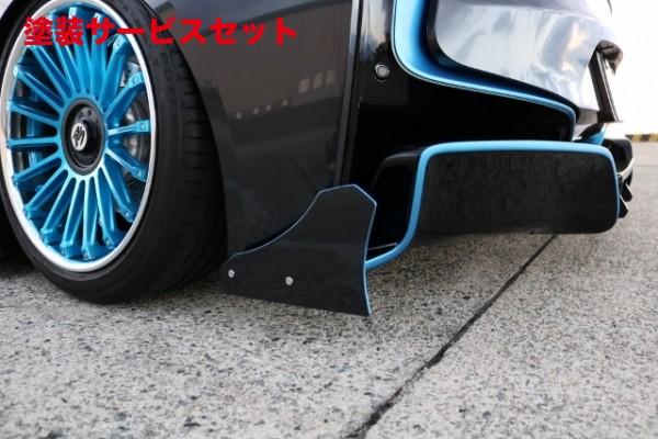 ★色番号塗装発送i8 | リアアンダー / ディフューザー【アップルオート】BMW i series i8 A-REAL Rear diffuser+F Side fin FRP