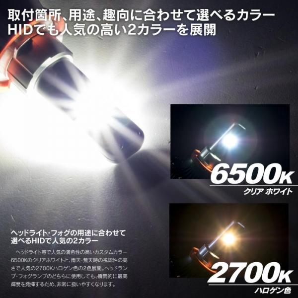 【ワールドウイング / ライザー】LYZER LEDコンバージョンキット H10/HB4 【 ケルビン数:2700K 】