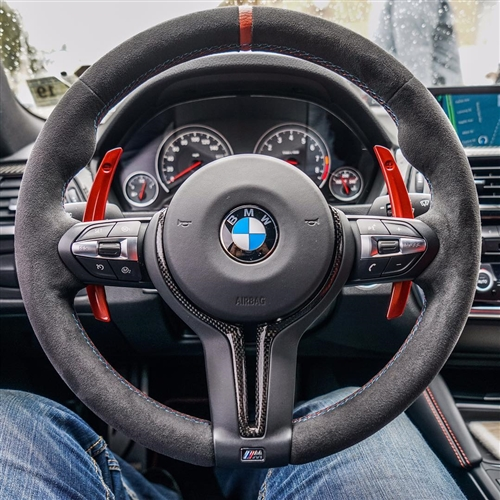 BMW 6 Series F06 | インテリアパネル【エニーズ・インターナショナル】BMW F06 M6 Mモデル・カーボンステアリングトリム
