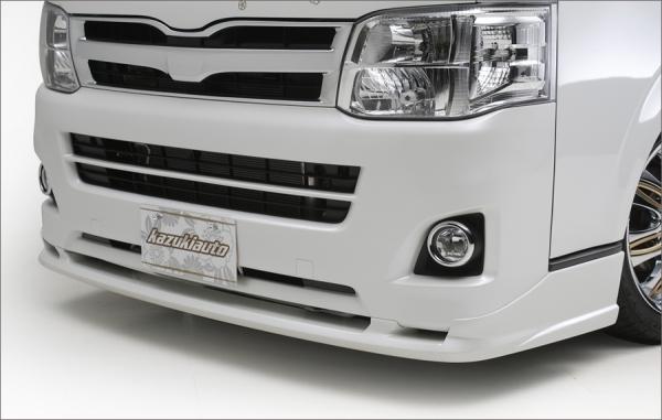 200 ハイエース | フロントハーフ【カズキオート】ハイエース 200系 3型 標準ボディ Urban Style フロントハーフスポイラー 塗装済品 ブラックマイカ (209)