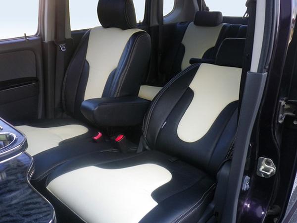L675S ミラココア | シートカバー【ダティ】ミラ ココア L675S タイプ:X スペシャルコーデ (H24.04~) シートカバー DEP V-Line カラー:キャメル