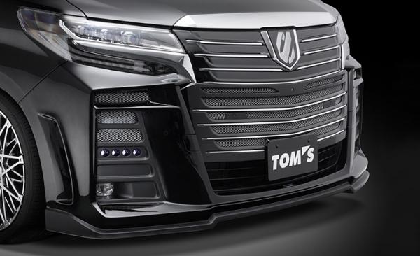 30 アルファード | フロントバンパー【トムス】アルファード 30系 S 後期 フロントバンパー 専用LED付 未塗装