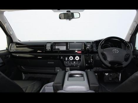 200 ハイエース ワイド | インテリアパネル【ティスファクトリー】ハイエース200系1~3型ワイド インテリアパネル12pキット センターコンソールタイプ ピアノブラック マニュアルエアコン車