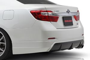 CAMRY V50 | リアバンパーカバー / リアハーフ【アスカジャパン】カムリ V50 前期 リアハーフスポイラー 純正対応シングル出し用 メーカー塗装済品 シルバーメタリック (1F7)