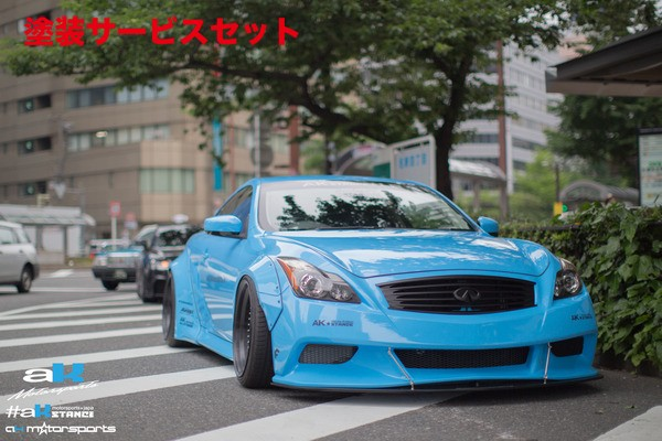 ★色番号塗装発送V36 スカイラインクーペ | フロントバンパー【エーケーモータースポーツ】スカイライン V36 クーペ AK Front Bumper