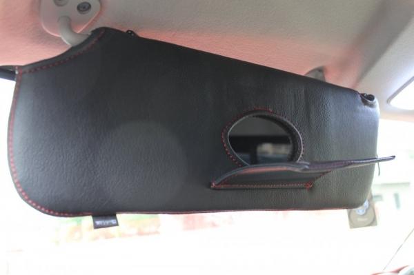 【ボディライン】NV350キャラバン ワイドボディ サンバイザーカバー ステッチカラー:ブラックステッチ
