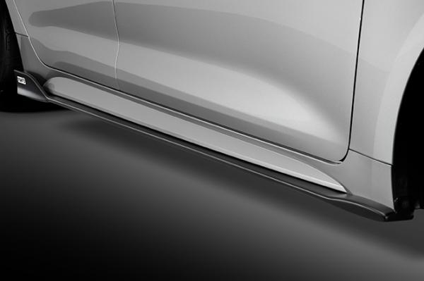 E21# カローラスポーツ | サイドステップ【トムス】カローラスポーツ ZWE211/NRE21# サイドディフューザー FRP 塗装済 フラットブラック