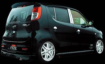 MF22S MRワゴン | ピラー【フィール】MRワゴン MF22S (G/X/Tターボ Grade)MODELLO カーボンピラー(リアルカーボン 3ピース左右セット) ブラック