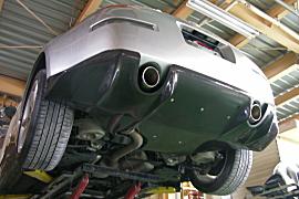 Z33 フェアレディZ   リアアンダー / ディフューザー【エフエムエアロ(ファースト モールディング)】Z33 フェアレディZ リアディフューザー+ステーセット FRP