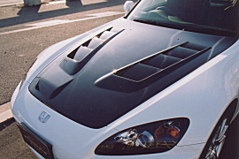 S2000 AP1/2   ボンネット オプション品【エフエムエアロ(ファースト モールディング)】AP1 S2000 前期 スーパーボンネットオプション レインプロテクター