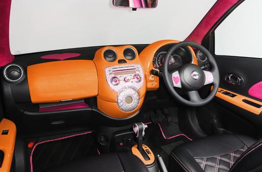 K13 マーチ | インテリアパネル【ジーコーポレーション】マーチ K13 MovingCafeLabel デコレーションパネル(インテリアパネル) オレンジ