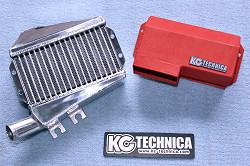アルト HA36S/36V型 | インタークーラー【ケーシーテクニカ】アルト(HA36S)ターボRS 大容量インタークーラー ダクトカラー レッド
