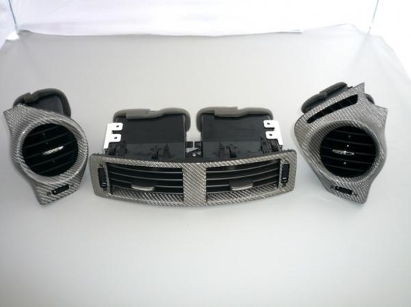 レクサス IS F | 内装パーツ / その他【レムス】Lexus IS-F エアコン吹き出し口3点セット 05-08年モデル シルバーカーボン