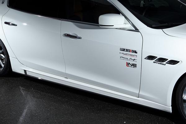 Maserati Quattroporte | サイドステップ【リープデザイン】マセラティ クアトロポルテ サイドスカート 一部カーボン(別途 塗装必要)