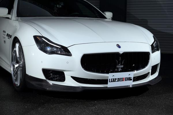 Maserati Quattroporte | フロントアンダー / アンダーパネル【リープデザイン】マセラティ クアトロポルテ フロントスポイラー カーボン