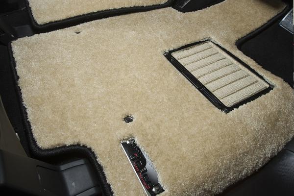 S13 シルビア | フロアマット【エムアイシー】シルビア S13 フロアマット フィール マットカラー:ベージュ/ヒールパッドフレーム付