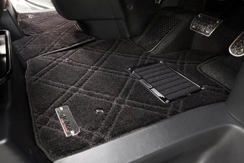 S13 シルビア | フロアマット【エムアイシー】シルビア S13 フロアマット ダブルダイヤ マットカラー:ベージュ/ヒールパッドフレーム付