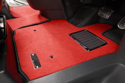 E120 カローラランクス   フロアマット【エムアイシー】カローラランクス 120系 フロアマット フェアリー 4WD フットレスト無し車 ヒールパット付き