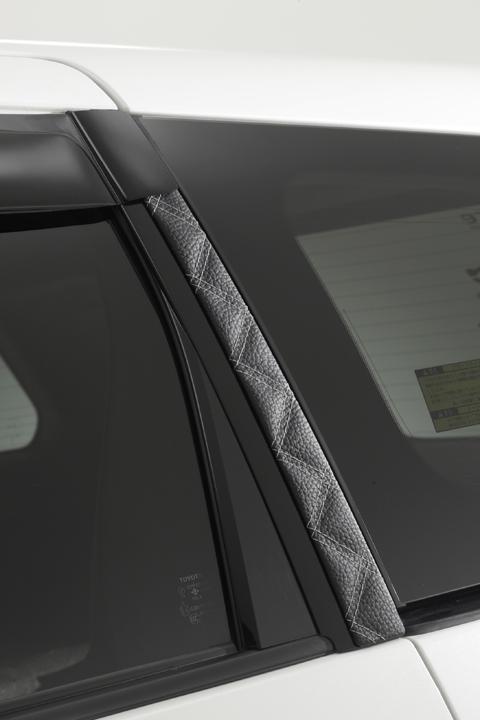 RF3-8 ステップワゴン | ピラー【エムアイシー】RF3 ステップワゴン 前期 ダイヤキルトレザーピラー 2P グレー