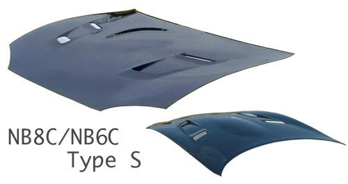 NB ロードスター | ボンネット ( フード )【スタウト】ロードスター NB6C/NB8C エアロボンネット TypeS カーボン (平織/綾織別途オプション)