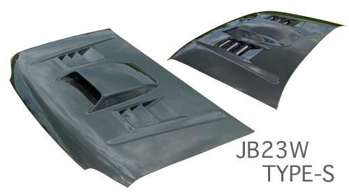 JB23 ジムニー | ボンネット ( フード )【スタウト】JB23W ジムニー 4~8型 エアロボンネット TypeS カーボン綾織り