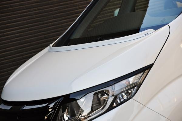 RP ステップワゴン | ボンネットスポイラー【ノブレッセ】ステップワゴン スパーダ RP 汎用ボンネットスポイラー Aタイプ 塗装済 ホワイトオーキッドパール(NH788P)