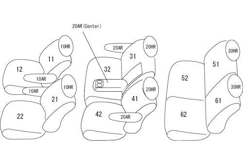 ACR50/55 GSR50/55   シートカバー【クラッツィオ】アルカンターラセレクション シートカバー 【ET-1531】 エスティマ GSR50W/GSR55W/ACR50W/ACR55W (2008/12-2012/04)
