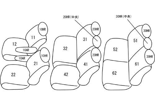 70/75 VOXY | シートカバー【クラッツィオ】アルカンターラセレクション シートカバー 【ET-1561】 ヴォクシー ZRR70W/ZRR75W/ZRR70G/ZRR75G (2010/05-2013/12)