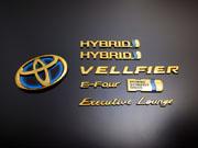 30 ヴェルファイア   オーナメント / エンブレム【グラージオ】ヴェルファイアハイブリッド AYH30 ソリッドカラーエンブレム リヤ6点SET ゴ-ルド(画像のExecutiveLoungeのロゴは含まれません)