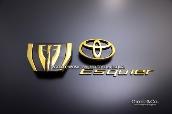 80/85 エスクァイア ESQUIRE | オーナメント / エンブレム【グラージオ】エスクァイア 80系 前期 エンブレム前後3点SET GS (ガソリン車) ゴ-ルド