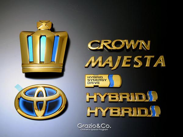 21 マジェスタ | オーナメント / エンブレム【グラージオ】クラウンマジェスタ 214 王冠7点セット MAJESTA ブラック クロ-ム