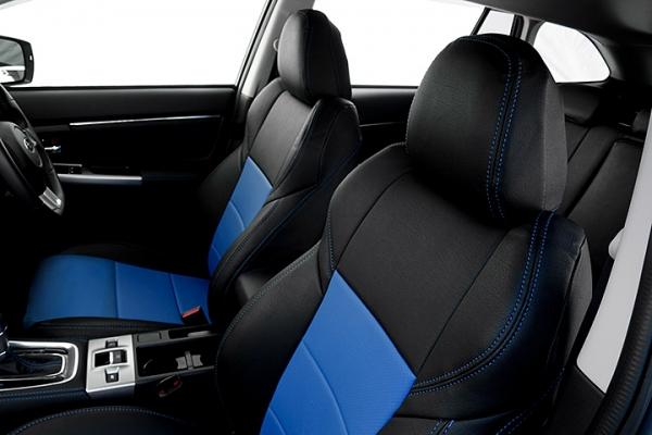 レヴォーグ | シートカバー【オートウェア】レヴォーグ VM系 スポーツ 後期 シートカバー 専用モデル カラー:ブラック + 青色